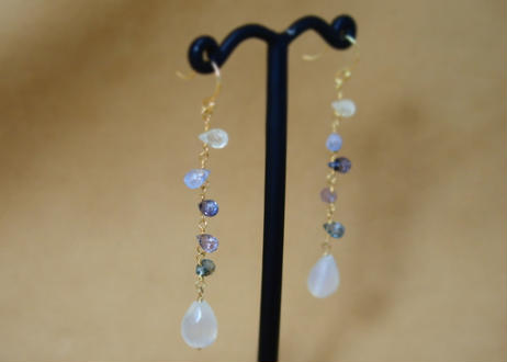 MultiSapphire&MoonStone Earrings