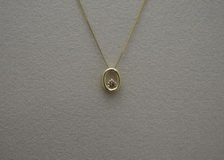 """O"" Brown Diamond Necklace"