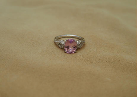 Kunzite Ribbon Ring(o/v)