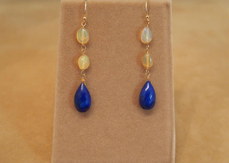 Lapis&Opal Design Earrings