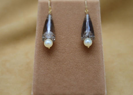 Smoky Quartz Design Earrings