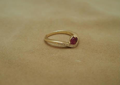Ruby Tiara Design Ring(o/v)
