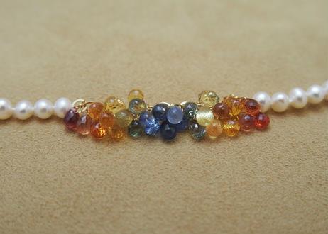 Multi Color Sapphire Rainbow Bracelet
