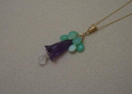 Amethyst Flower Pendant Top (+Diamond)