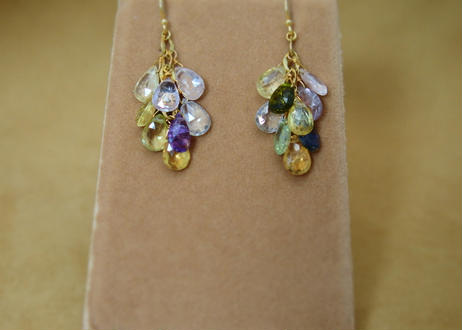 MultiSapphire Prism Earrings