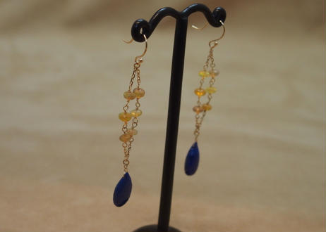 Lapis & Opal Design Earrings