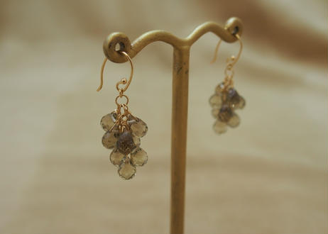Olive Quartz Prism Earrings