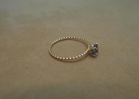 Blue Sapphire Petit Ring (o/v)