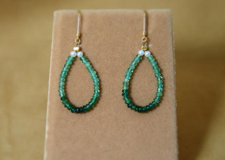 Emerald DropHoop Earrings