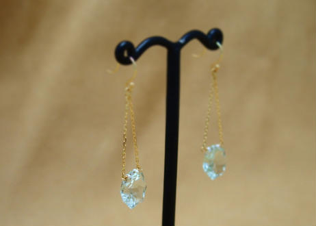 GreenAmethyst StarCut Earrings