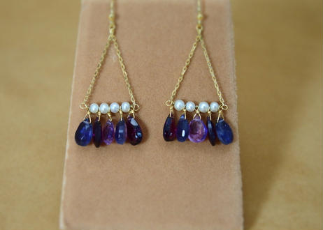 3Colors Chandelier Earrings