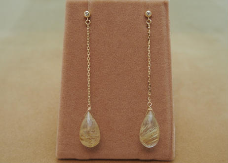 Rutilaed Quartz Line Earrings(d/c)