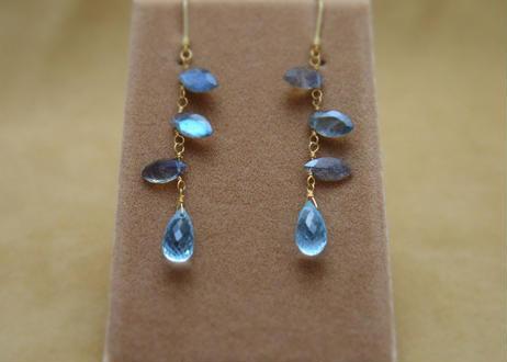 Labradolite&BlueTopaz Earrings