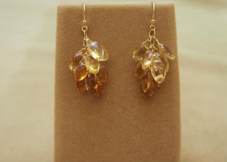Citrine Prism Earrings(m/q)