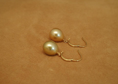 South Sea Pearl Earrings(GOLD)