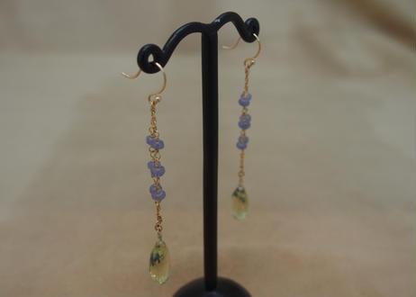 LemonQuartz&Tanzanite Design Earrings