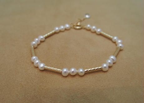 Fresh Water Pearl Gold Bracelet