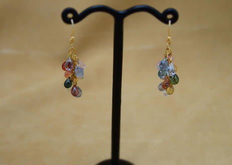 Multi Sapphire Prisum Earrings(d/c)