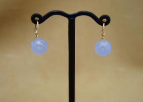 Blue Chalcedony German Earrings