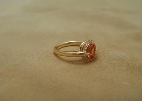 Spesartine Garnet Ring (o/v)