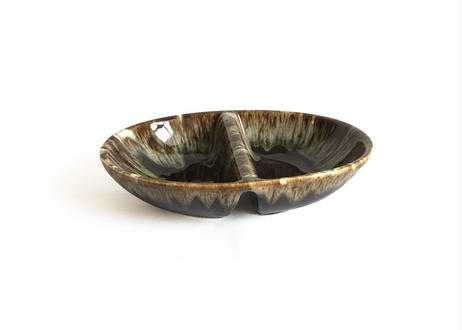 Brown Drip Glaze Dish