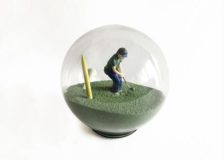 Golfer Sand Globe