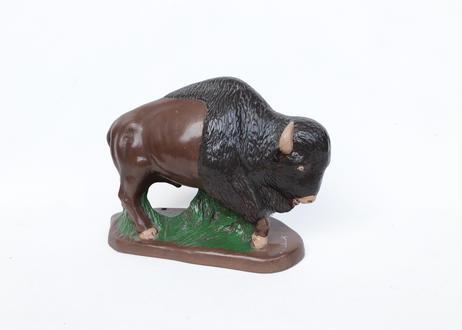 Ceramic Buffalo Sculpture