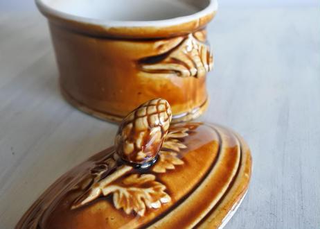 茶釉 オーヴァル型 テリーヌ 15.5x10cm〖202101-49〗
