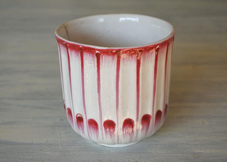 18世紀 リュネビル窯 赤い彩色のカップ #1〖202105-02〗