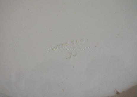 イギリス クリームウェア ウェッジウッド レースリム プレート 22.7cm〖202104-48〗