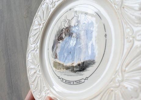 サルグミンヌ グリザイユ リムレリーフ デザート皿 #1〖202101-45〗