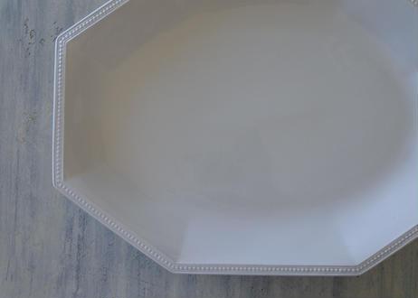 ジョンソン ブラザーズ 大型 オクトゴナル オーヴァル プレート38x29cm〖202106-27〗