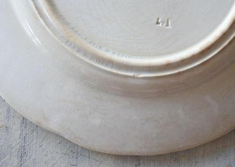 サルグミンヌ グリザイユ リムレリーフ デザート皿 #4〖202101-48〗