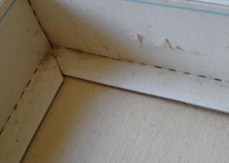 ヴィンテージ 香水ボックス BOX ブーケ柄 ミラー 13.8X17.7cm