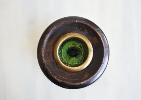 ナポレオンIII 木製 黒いキャンドルスタンド高さ27cm #2〖2020102-06〗