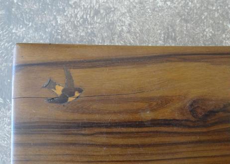 アンティークBOX つばめ ツバメ 燕柄のオリーブの木の小さな箱
