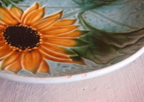 バルボティーヌ ひまわり 向日葵 ヒマワリ 柄 ケーキ皿 直径16.8cm