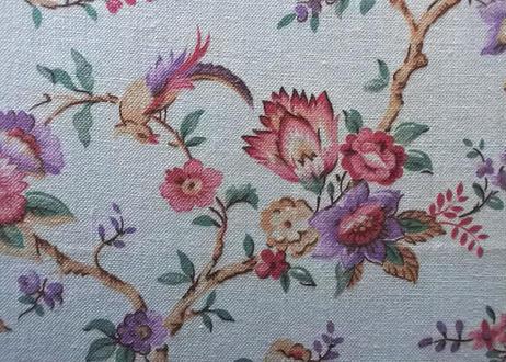 カルトナージュボックス BOX 水色 お花と鳥 45.5x25.7cm〖202104-04〗