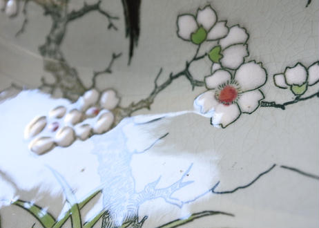 ロンウィ窯 エナメル彩 取っ手のついた オーバル コルベイユ〖2020102-32〗