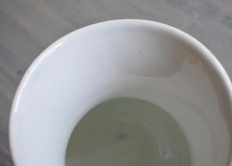 クレイユエモントロー 白いピシェ 高さ18.5cm〖202108-043〗