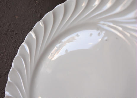 リモージュ アヴィランド 白いポーセリン ケーキ皿 16.2cm 4枚セット #3〖202109-22〗