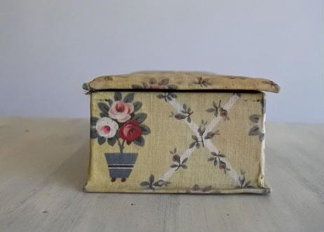 カルトナージュボックス BOX 黄色 薔薇柄 24x10.2cm #2〖202104-10〗