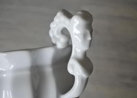 リモージュ 白いショコラカップ 厚手ポーセリン製〖202101-52〗