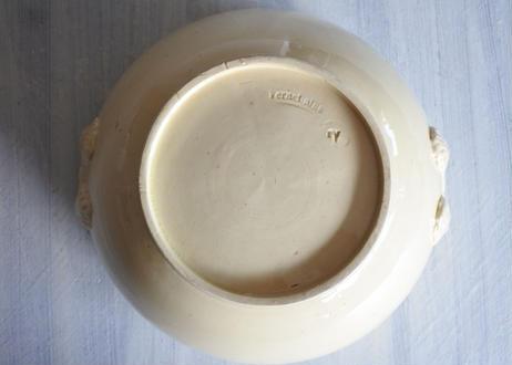 UZES ヴェルネ窯 淡い黄釉 小さめサラダボウル スーピエール 口径19.5cm