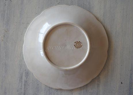 APT アプト窯 白い苺の苗レリーフ皿〖202108-031〗