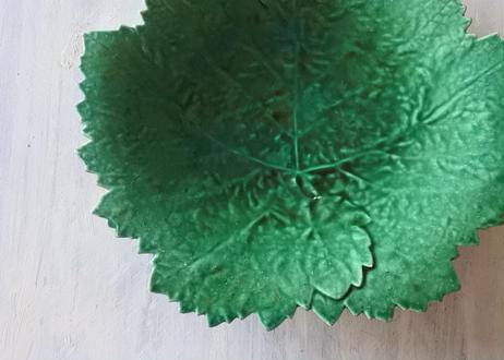 APT アプト窯 緑釉 葡萄の葉 バルボティーヌ プレート #1〖202101-22〗