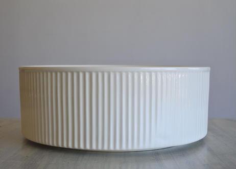 ファイアンス製 大型サラダボウル 口径25.4cm 〖202106-30〗