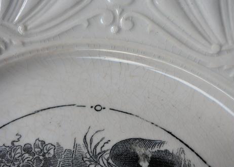 サルグミンヌ グリザイユ リムレリーフ デザート皿 #3〖202101-47〗