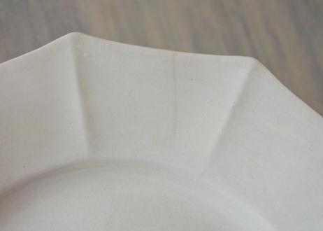 プリマヴェラ ドデカゴン プレート ディナー皿 25x25cm #4 ヒビあり〖202104-44〗