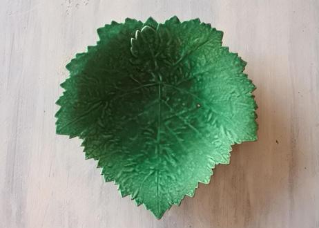 APT アプト窯 緑釉 葡萄の葉 バルボティーヌ プレート #2〖202101-23〗